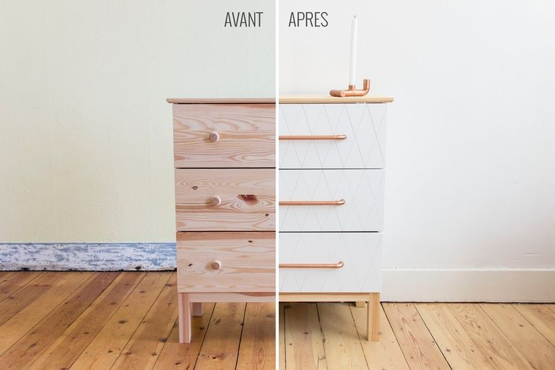 Ikea Hack Tarva Chest Of 3 Drawers In
