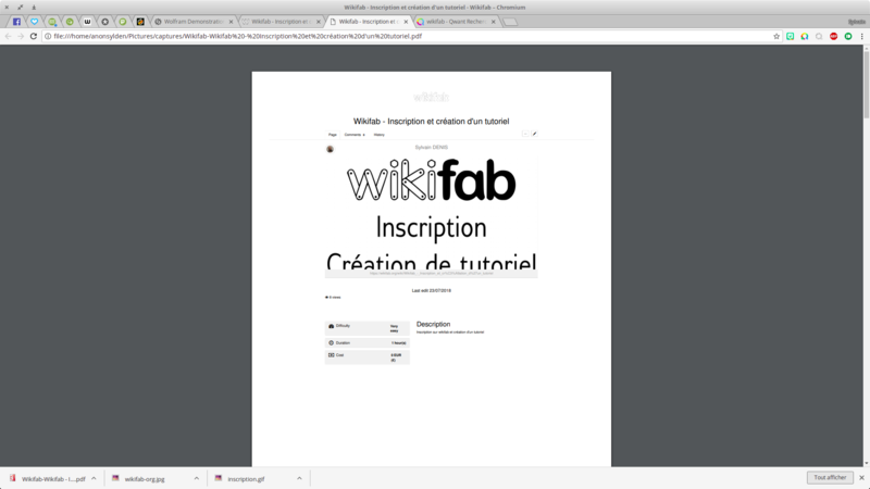 Wikifab - Inscription et création d'un tutoriel Wikifab - Inscription et cr ation d un tutoriel - Wikifab Chromium 019.png