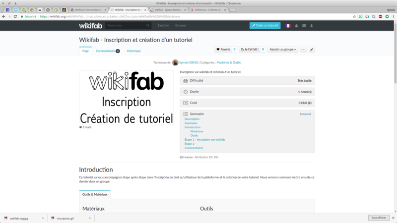 Wikifab - Inscription et création d'un tutoriel Wikifab - Inscription et cr ation d un tutoriel Wikifab Chromium 018.png